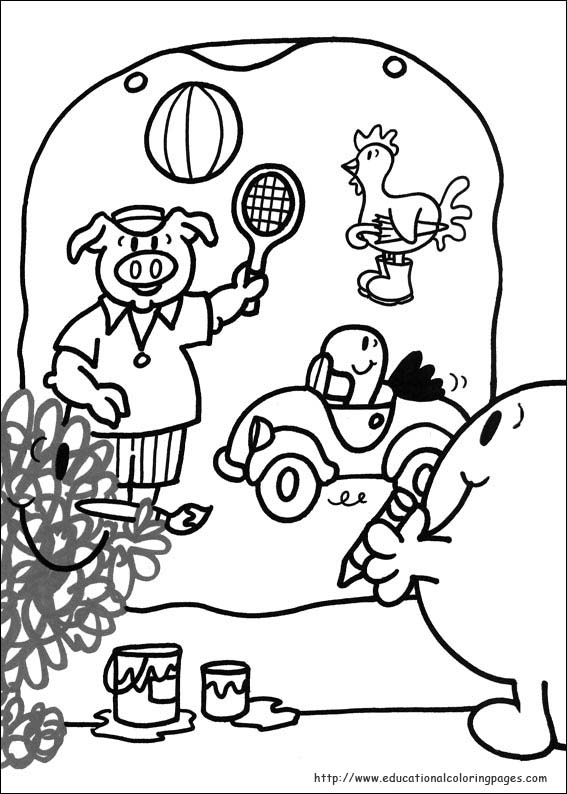 Mr Men Coloring Pages Educational
