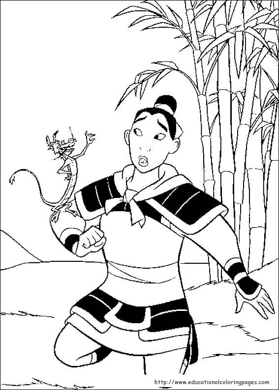 Mulan Coloring Pages Educational
