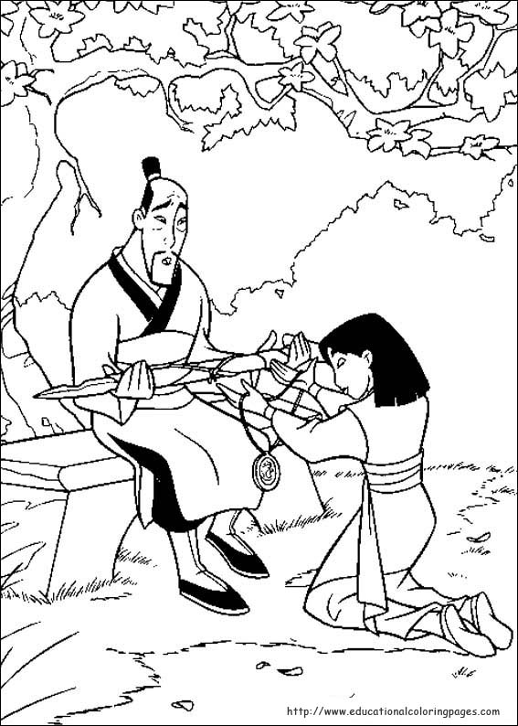 Worksheets Mulan Worksheet mulan coloring pages educational fun kids and bookmark