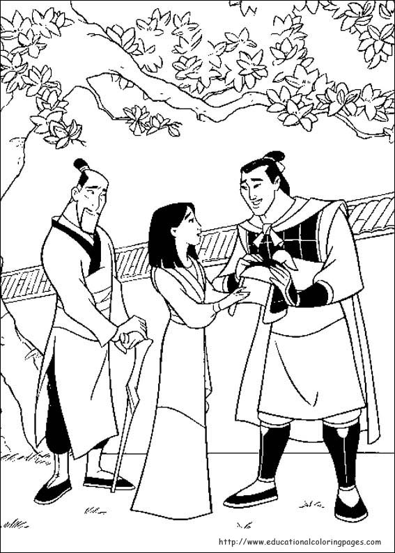 Mulan Coloring Pages Educational Fun Kids Coloring Pages and