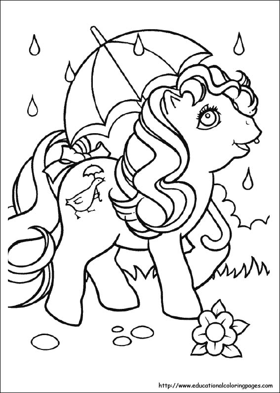 my little pony coloring pages free for kids - Educational Coloring Pages
