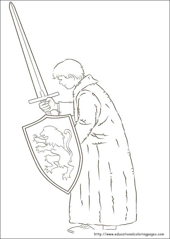 narnia coloring pages reepicheep song - photo#26