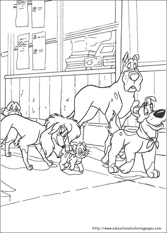 Oliver and Company Coloring Pages - Educational Fun Kids Coloring ...