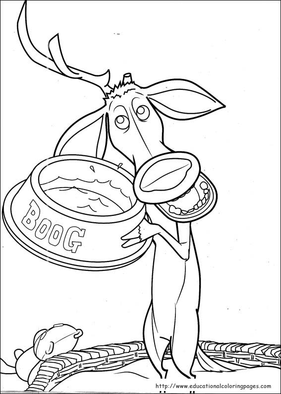 Open Season Coloring Pages Educational