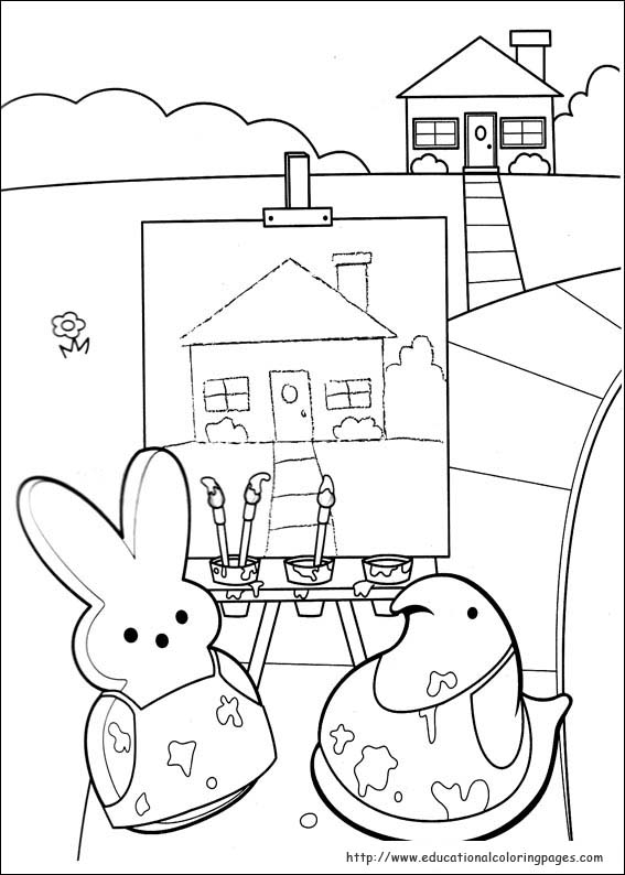 Peeps Coloring Pages Educational