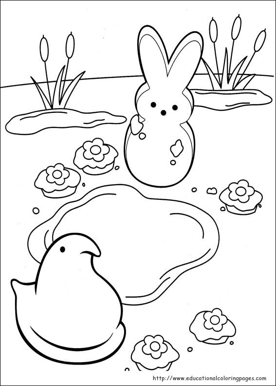 peeps coloring pages - photo#7