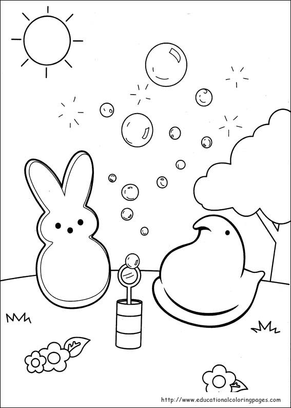 easter peeps coloring pages - photo#7