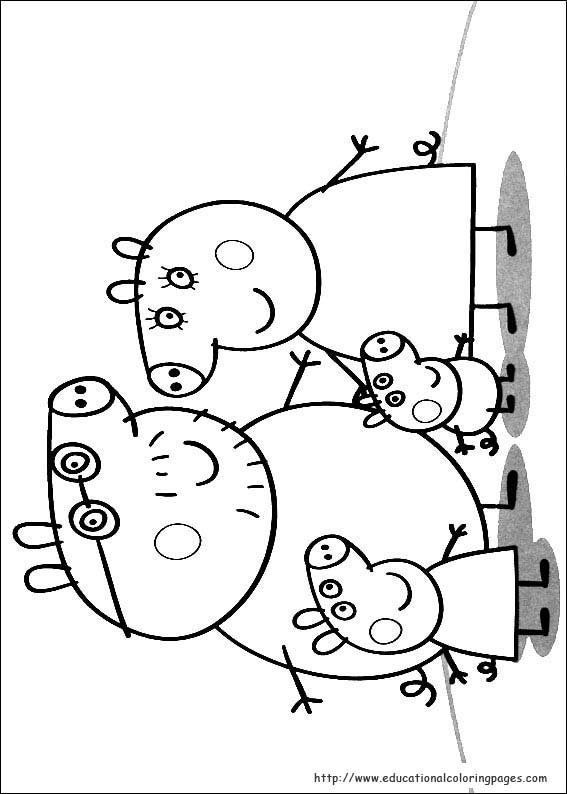 Colouring Picture Peppa Pig : Peppa pig coloring pages print