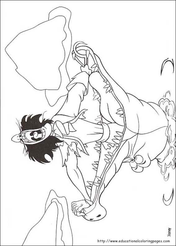 bookmark - Peter Pan Mermaids Coloring Pages