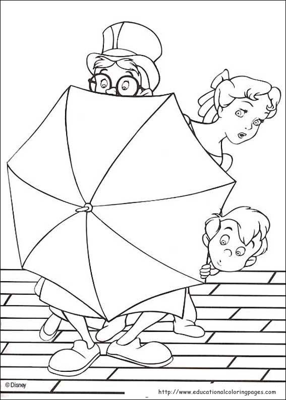 Peter Pan Coloring pages Educational