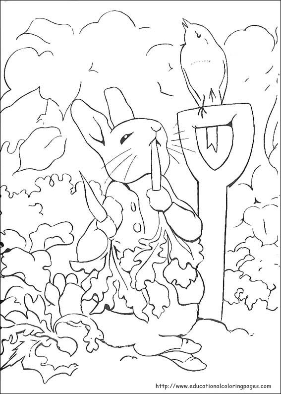 Peter Rabbit Coloring Pages - Educational Fun Kids Coloring Pages ...