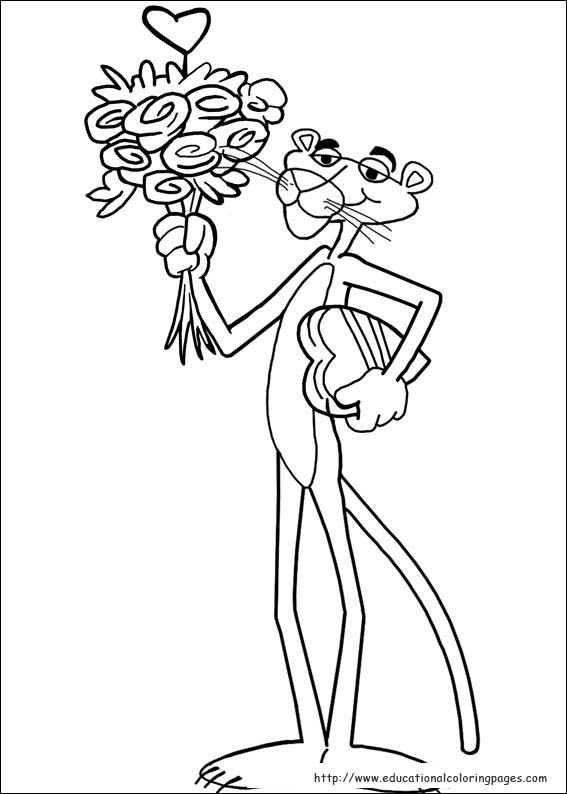 Pink Panther Coloring Pages Educational Fun Kids