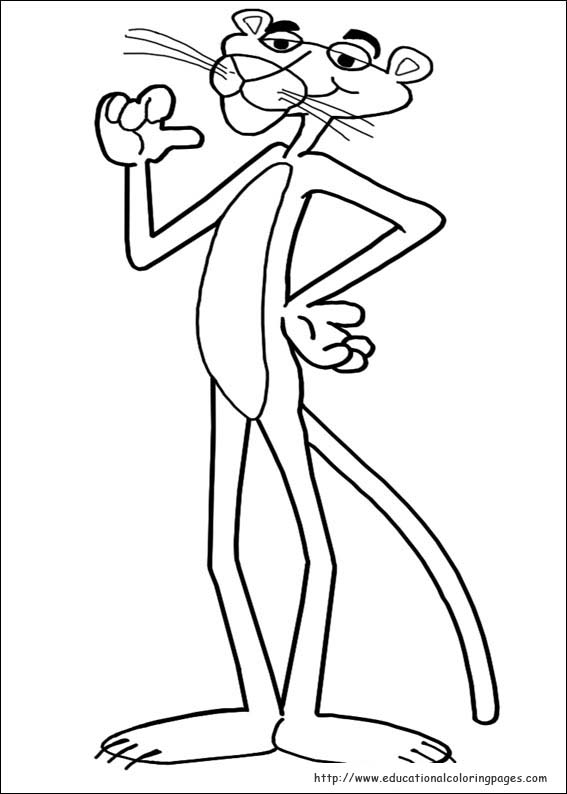 pink panther printable coloring pages - photo#3