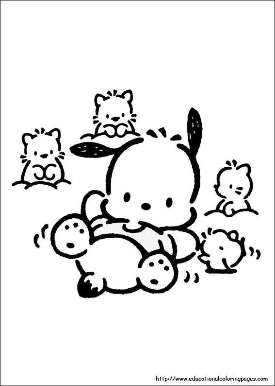 Pochacco Coloring pages Educational