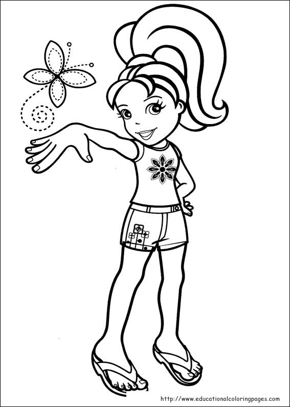 polly pocket coloring pages games - photo#6