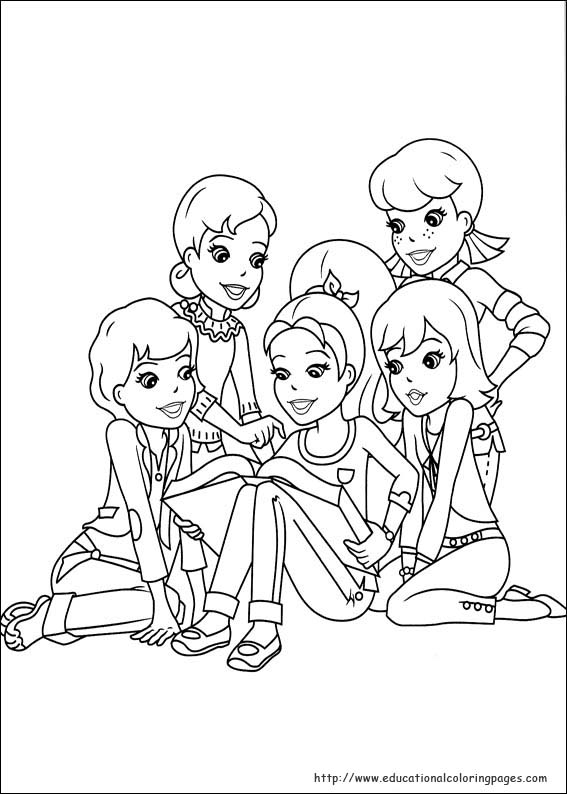 polly pocket coloring pages games - photo#4