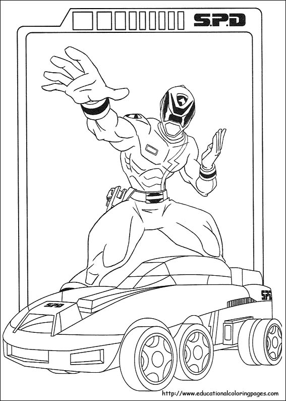 - Power Rangers Coloring Pages Free For Kids