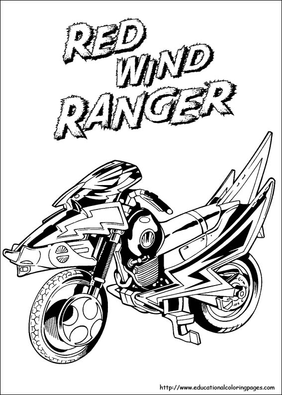 bookmark - Power Rangers Dino Coloring Pages