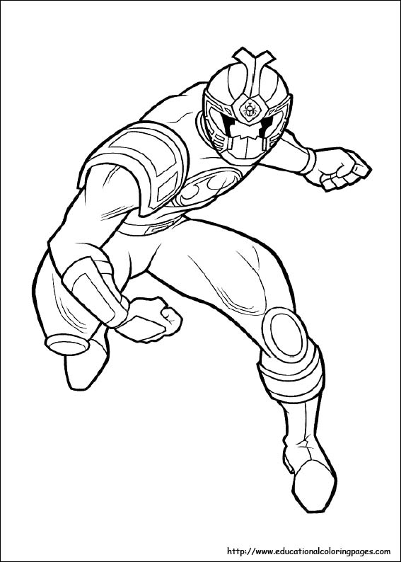 Power Rangers Coloring - Educational Fun Kids Coloring Pages and ...