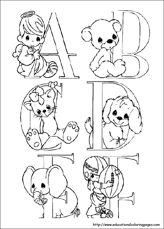 Precious Moments colouring sheets