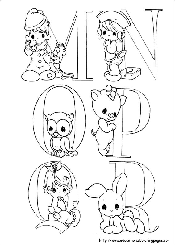 Precious Moments coloring sheets