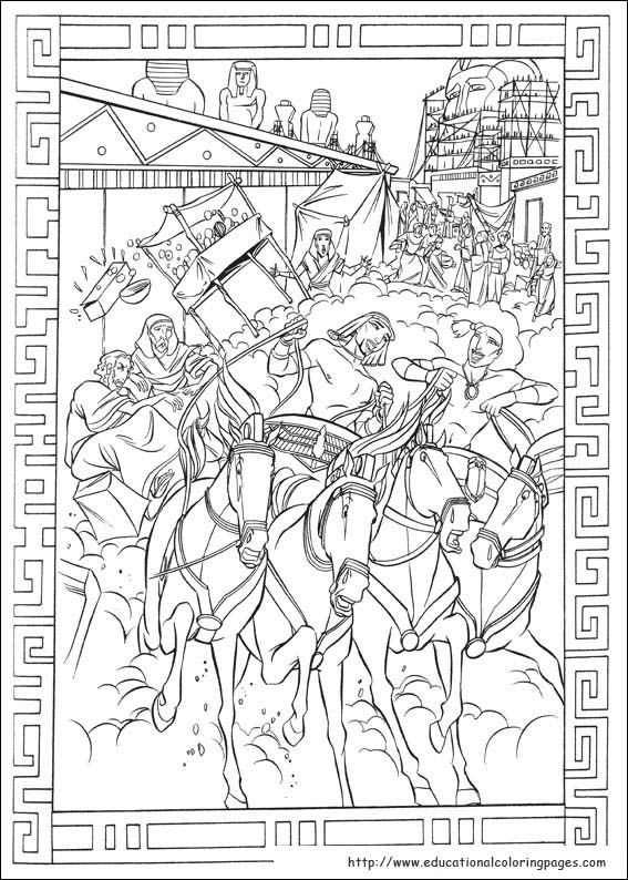 Prince Egypt Coloring Pages - Educational Fun Kids Coloring Pages ...