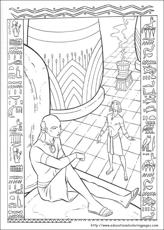 prince egypt coloring pages educational fun kids