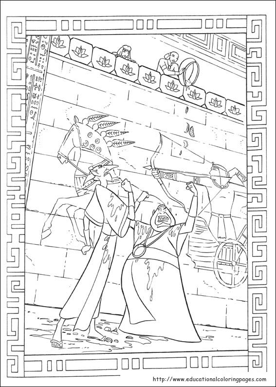 Prince Egypt Coloring Pages Educational