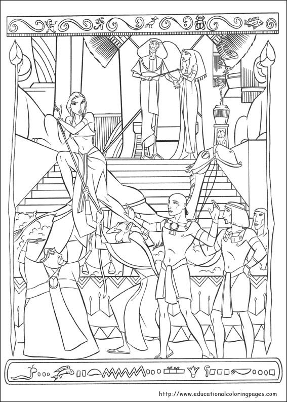 prince egypt coloring pages educational fun kids - Egyptian Coloring Pages Printable