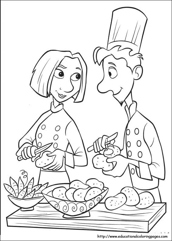print - Ratatouille Coloring Pages