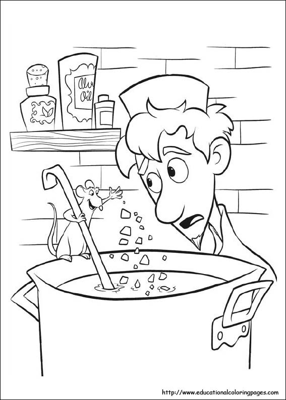 Ratatouille Coloring Pages Educational