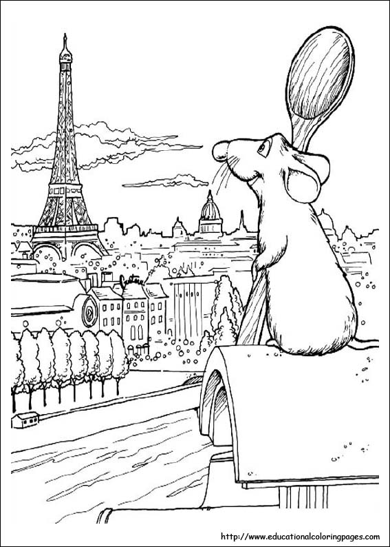 coloring pages ratatouille - photo#25