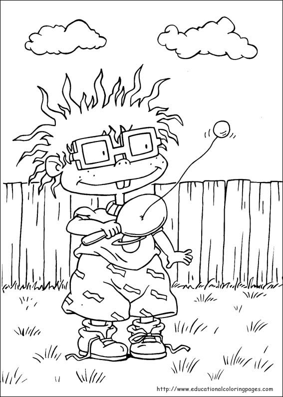 christmas rugrat coloring pages - photo#41