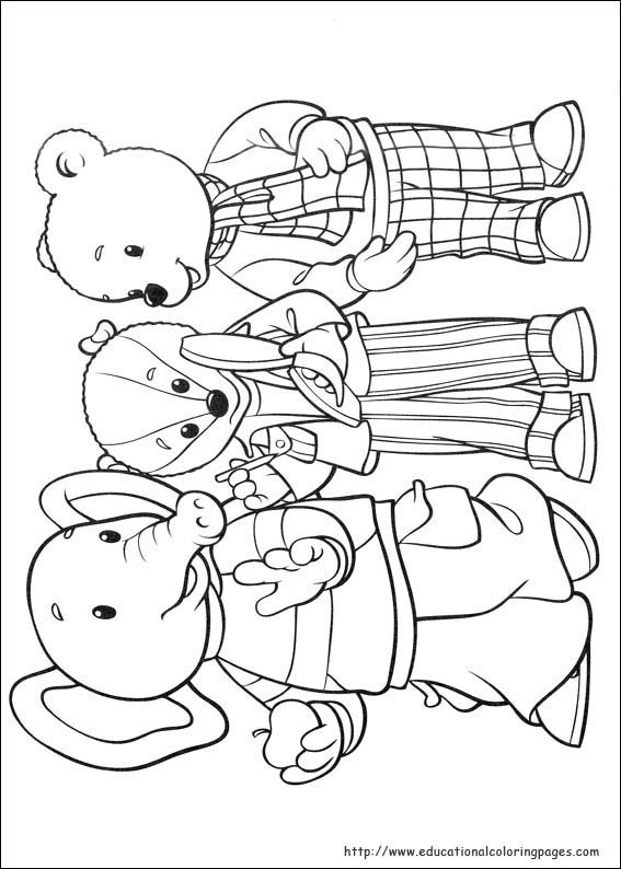 Rupert Bear Coloring Pages Educational