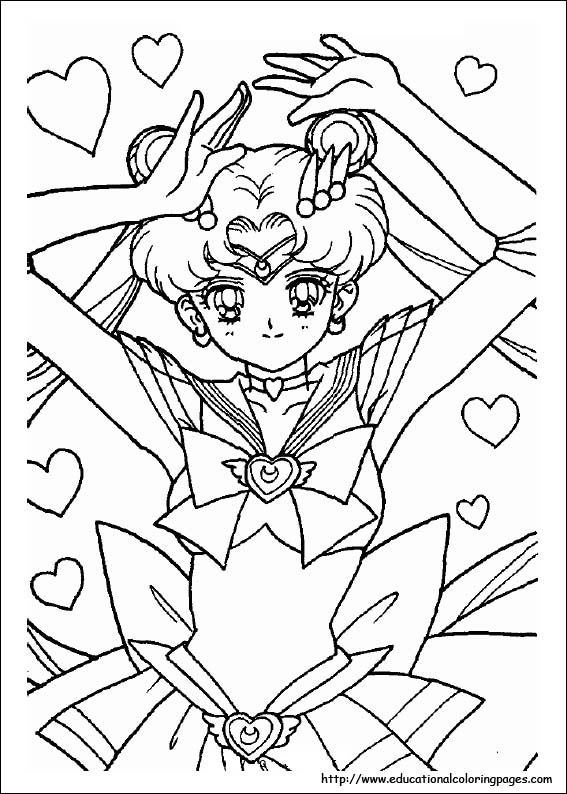 salor moon coloring pages - sailor moon coloring educational fun kids coloring pages