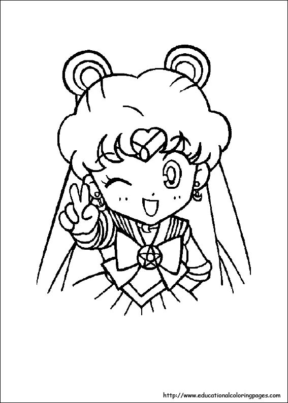 Sailor Moon Coloring Educational Fun Kids Coloring Pages