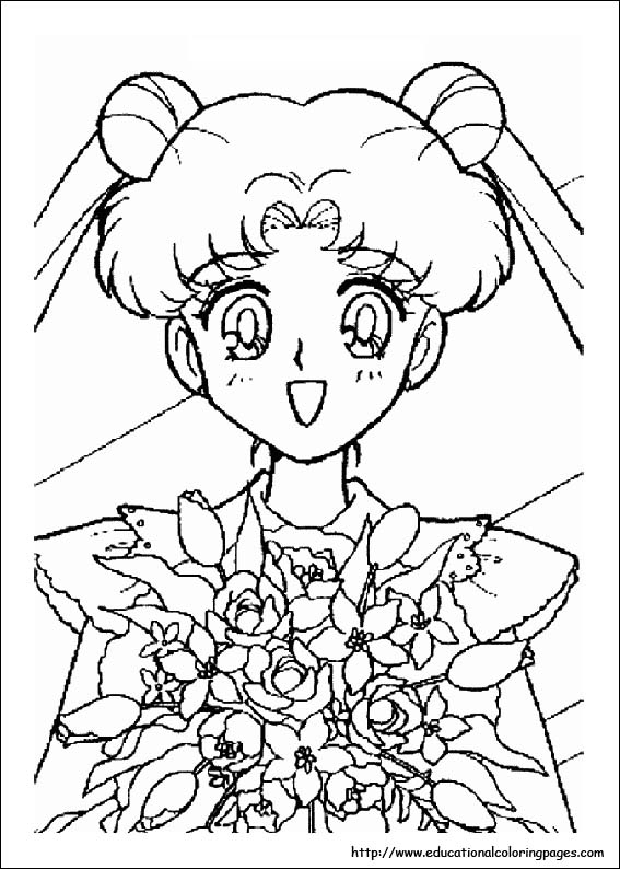 Sailor Moon Coloring Educational