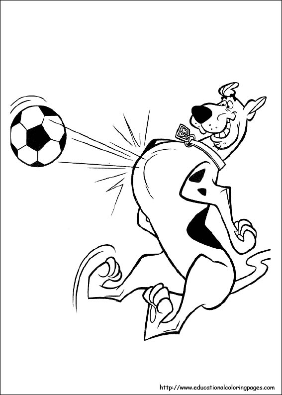 scooby doo coloring pages free for kids - Scooby Doo Coloring Page