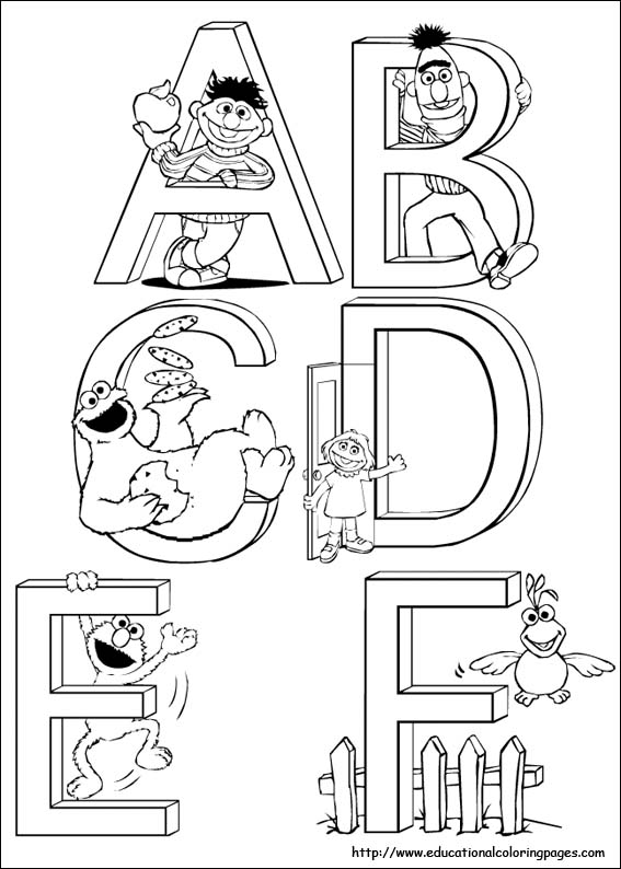 Sesame Street Coloring - Educational Fun Kids Coloring Pages and ...
