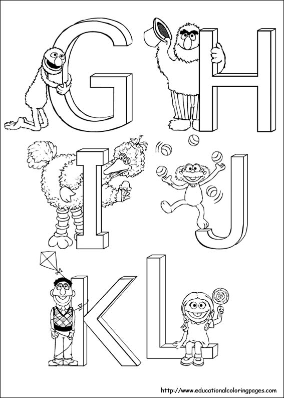 Sesame Street Coloring Educational