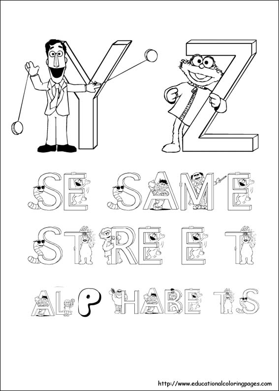 Sesame Street Coloring Educational Fun Kids Coloring