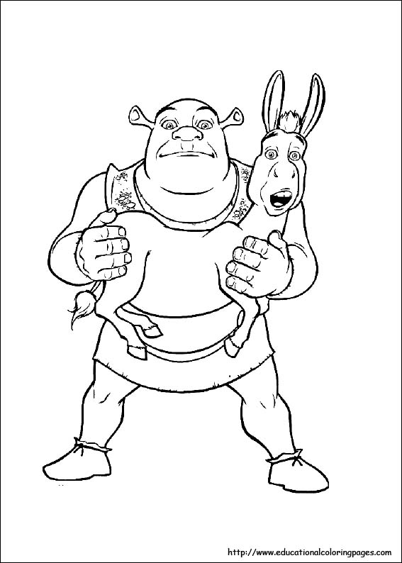 schreak coloring pages free - photo#18