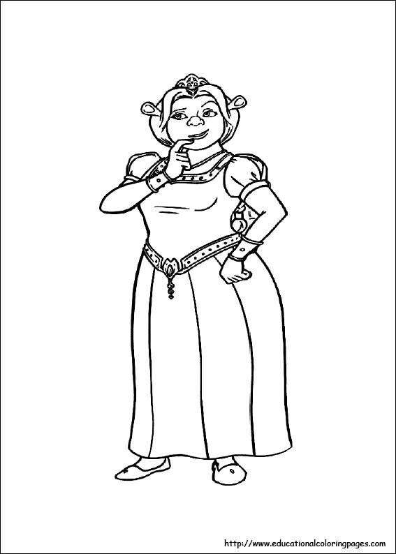 Shrek Coloring Pages For Kids