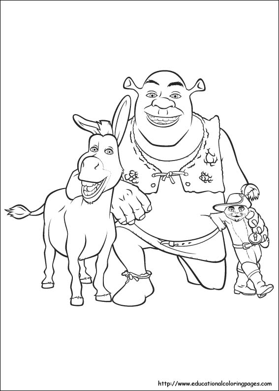 shreks house coloring pages - photo#10