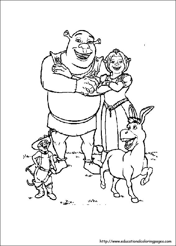 Shrek 3 Coloring Educational