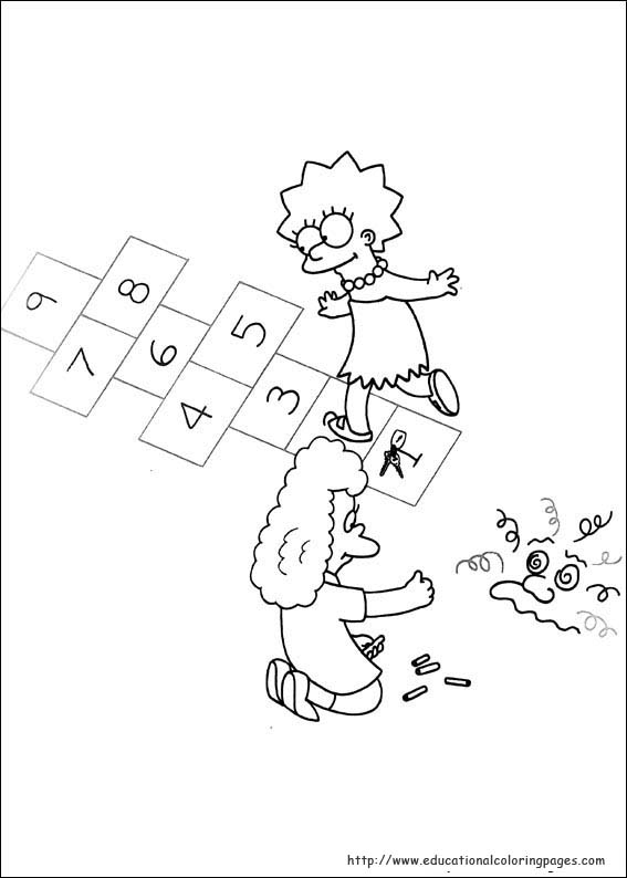 Simpsons Coloring Pages Educational