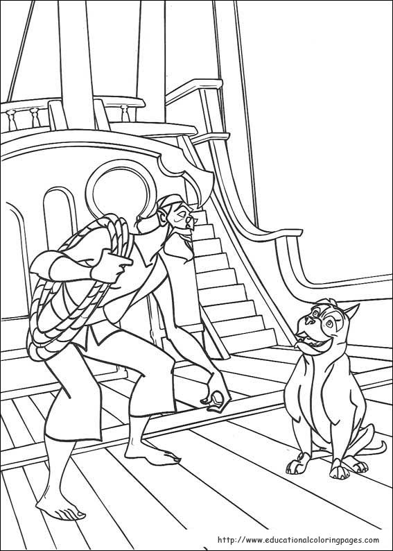 Sinbad Coloring Pages Educational Fun Kids Coloring