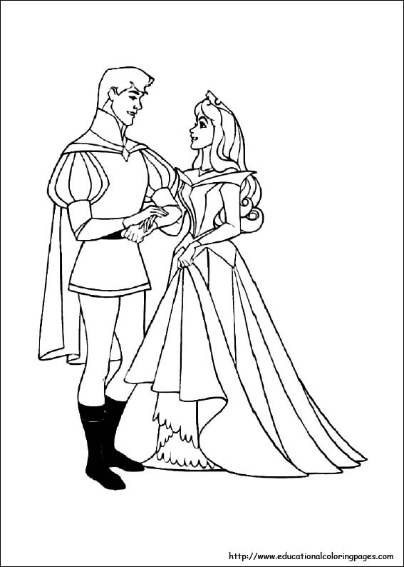 sleeping beauty coloring pages free for kids - Sleeping Beauty Coloring Pages Free
