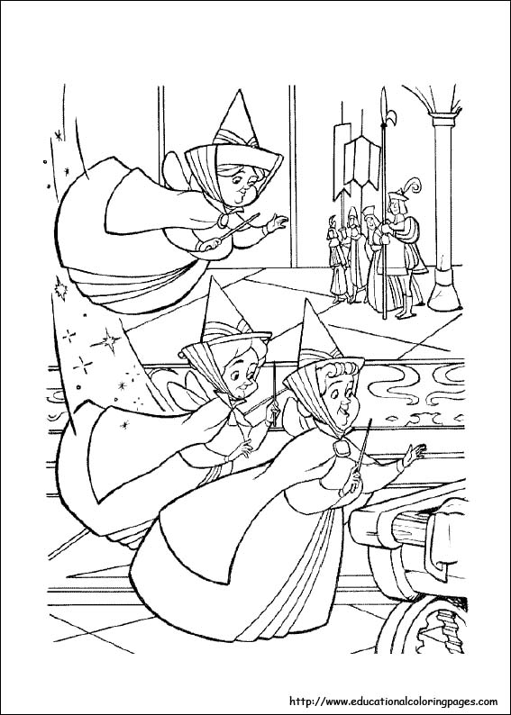 Sleeping Beauty Coloring Pages free For Kids