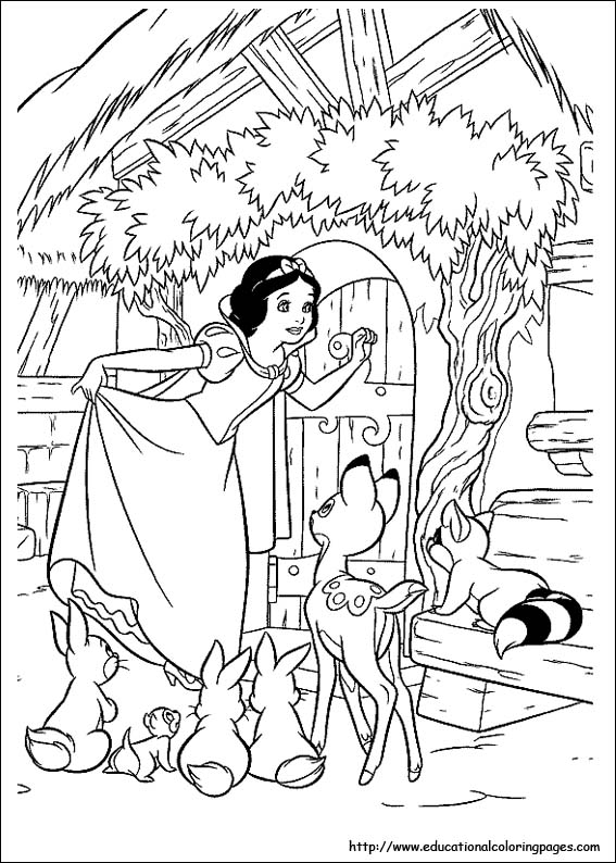 Snow White Coloring Pages free For Kids